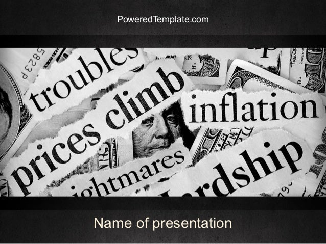 Great Recession PowerPoint Template by PoweredTemplate.com
