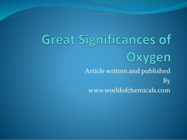 Article written and published By www.worldofchemicals.com
