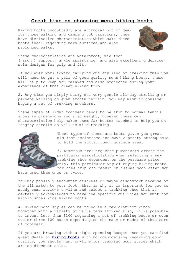 Great tips on choosing mens hiking boots