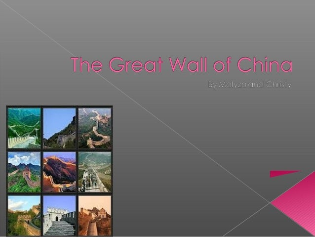 This monument is called The Great Wallof China. It is one of the biggestconstruction projects ever built. It is 15-30feet...