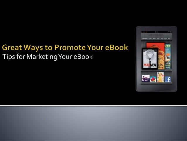 Great ways to promote your eBook