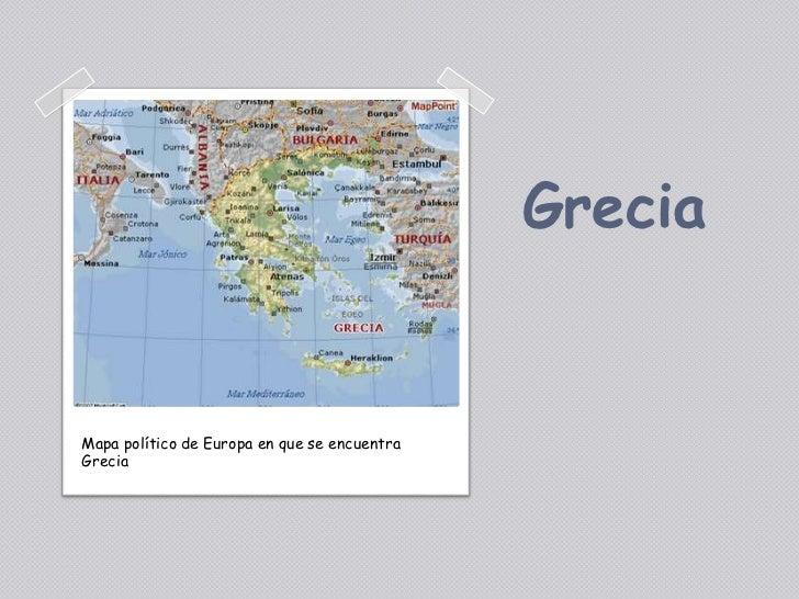 GreciaMapa político de Europa en que se encuentraGrecia