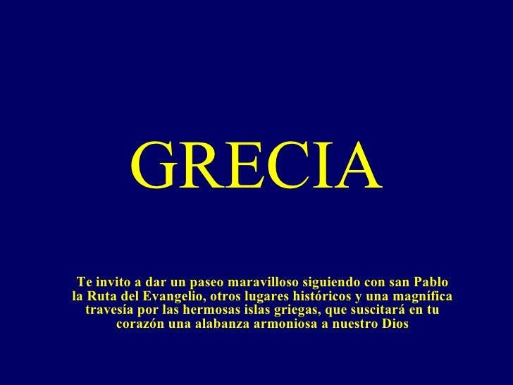 Grecia Lugares Visitados Por San Pablo