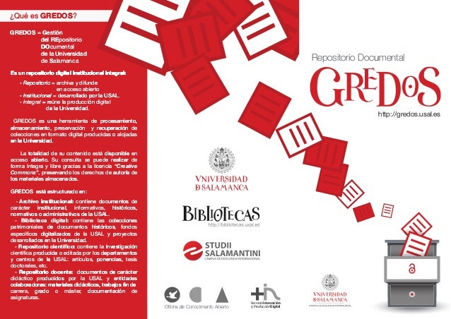Gredos, Repositorio Documental de la Universidad de Salamanca