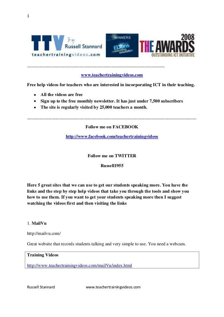 TESOL GREECE Plenary 2012-Links