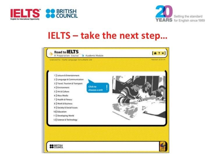 IELTS – take the next step…