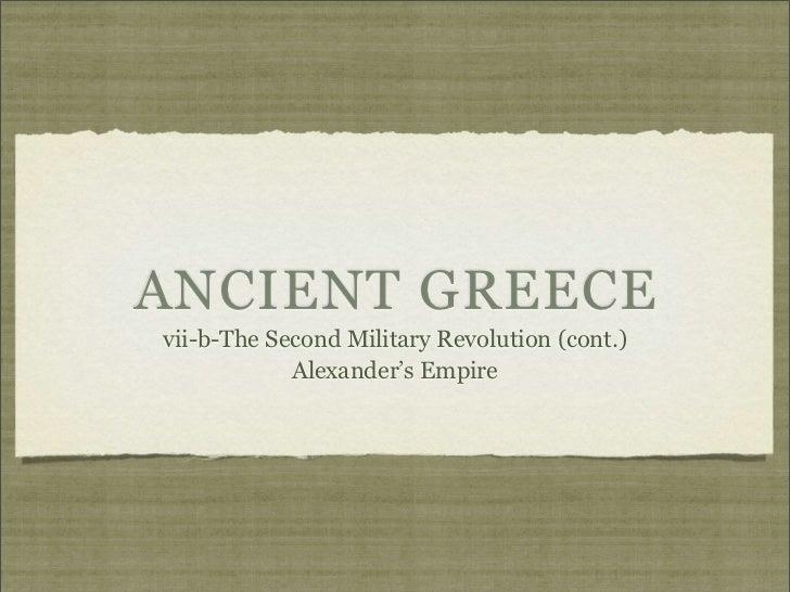 Greece 2iii Alexander's Empire