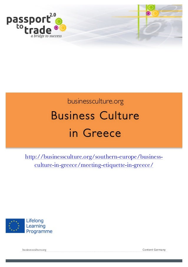 Greeek business culture guide - Learn about Greece