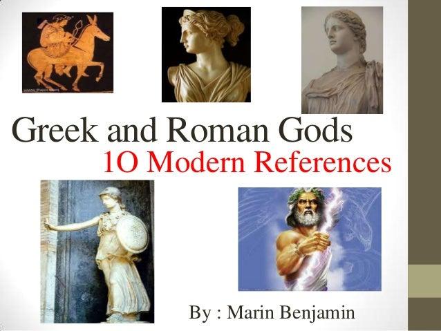 Greek and Roman Gods in Modern Life by Mari Benjamin