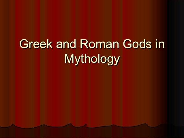 Greek and Roman Gods in       Mythology