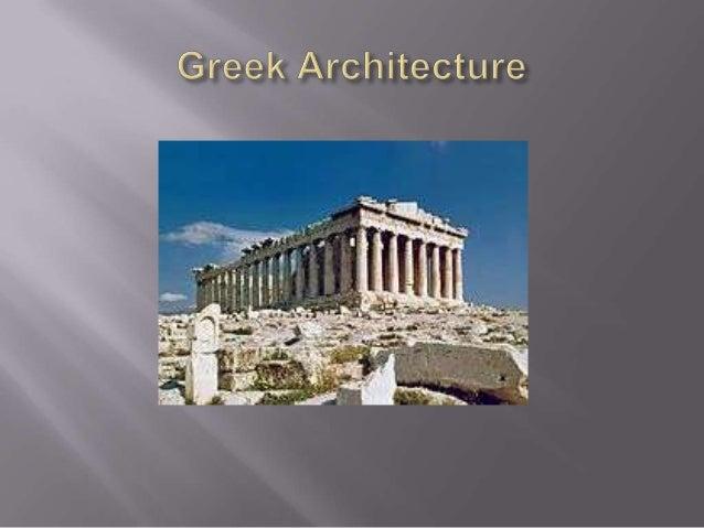 Greek architecture pwpt