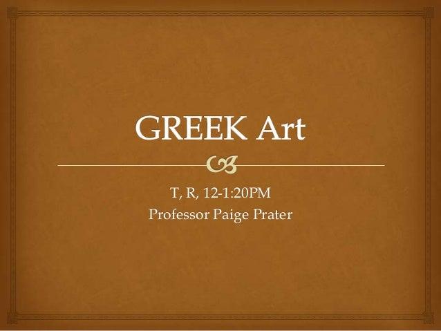Greek Art, Part 2, Art History Survey, Stokstad, 3rd ed