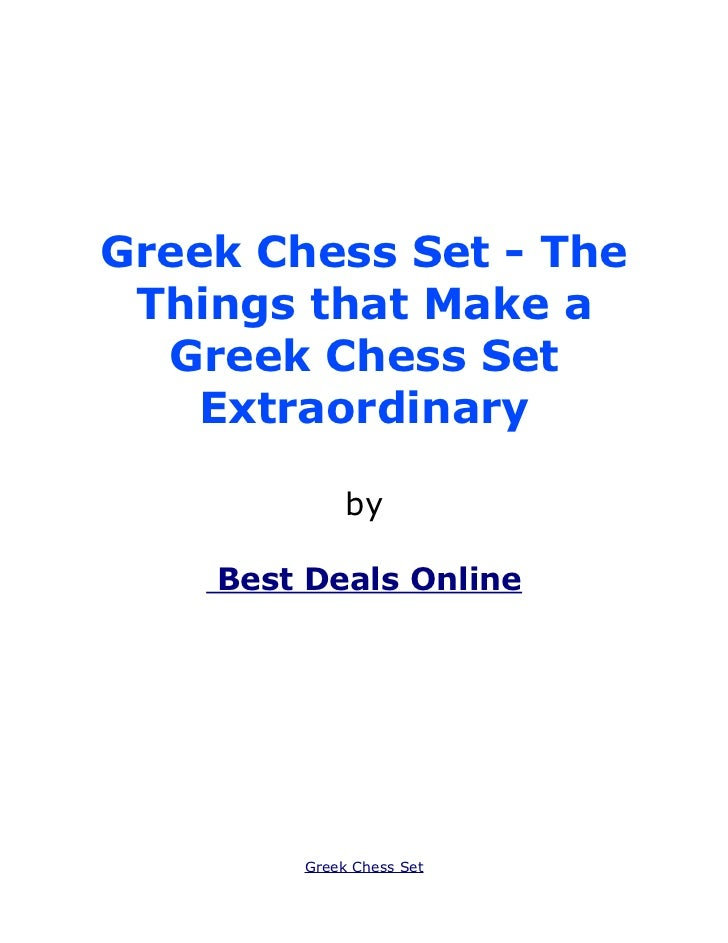 Greek Chess Set - The Things that Make a  Greek Chess Set   Extraordinary             by    Best Deals Online        Greek...