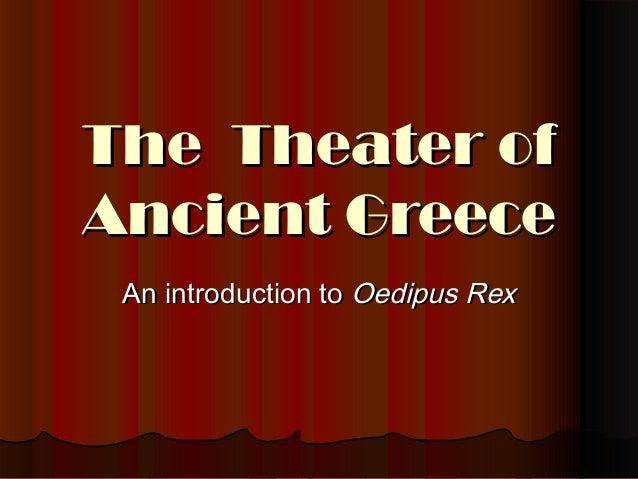 Greek drama   oedipus rex