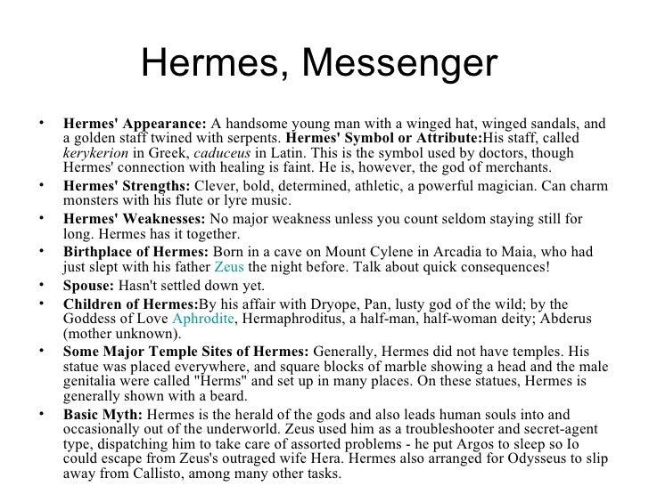 hermes messenger god facts