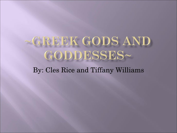 By: Cles Rice and Tiffany Williams
