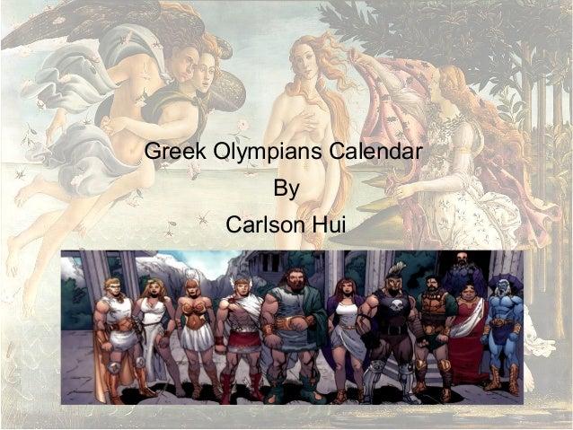 Greek gods calendar by Carlson Hui