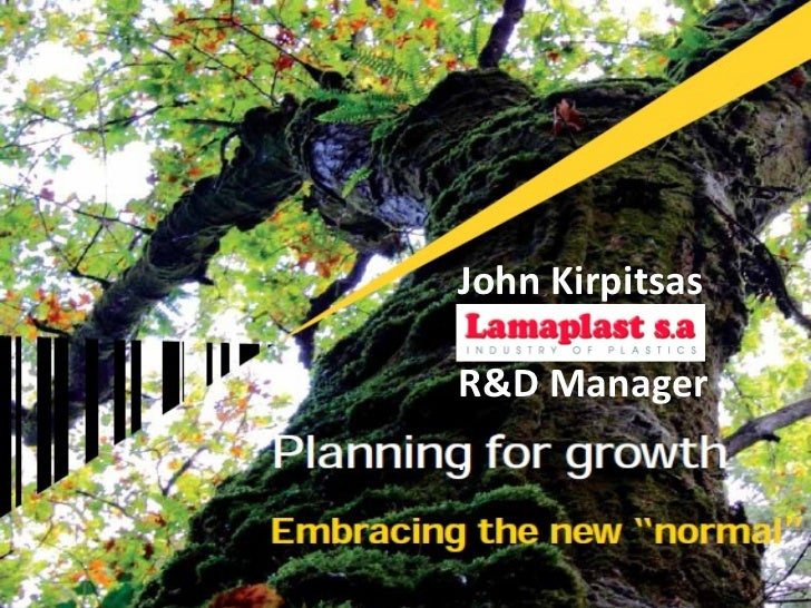 John Kirpitsas R&D Manager .
