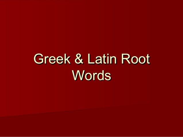 thesis greek root word