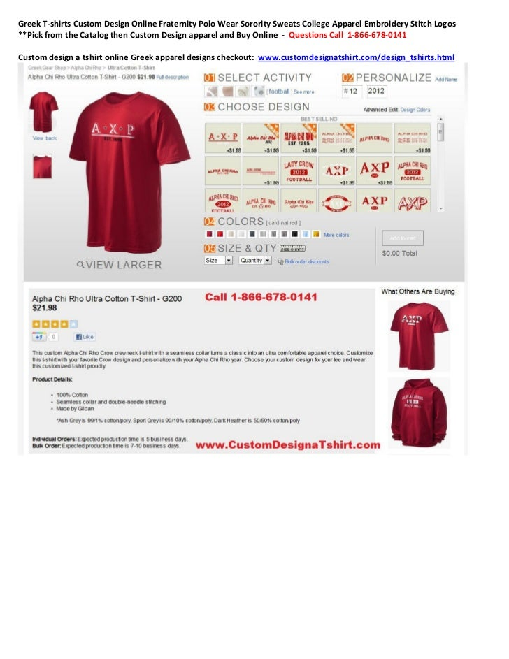 Greek T-shirts Custom Design Online Fraternity Polo Wear Sorority Sweats College Apparel Embroidery Stitch Logos**Pick fro...