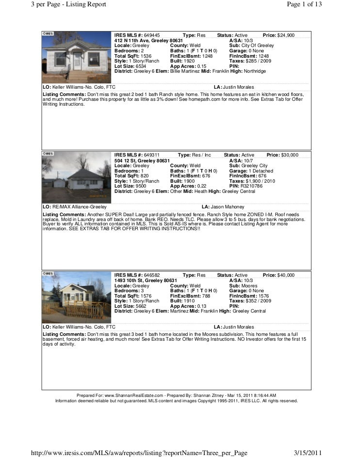 Greeley foreclosure list march 15th