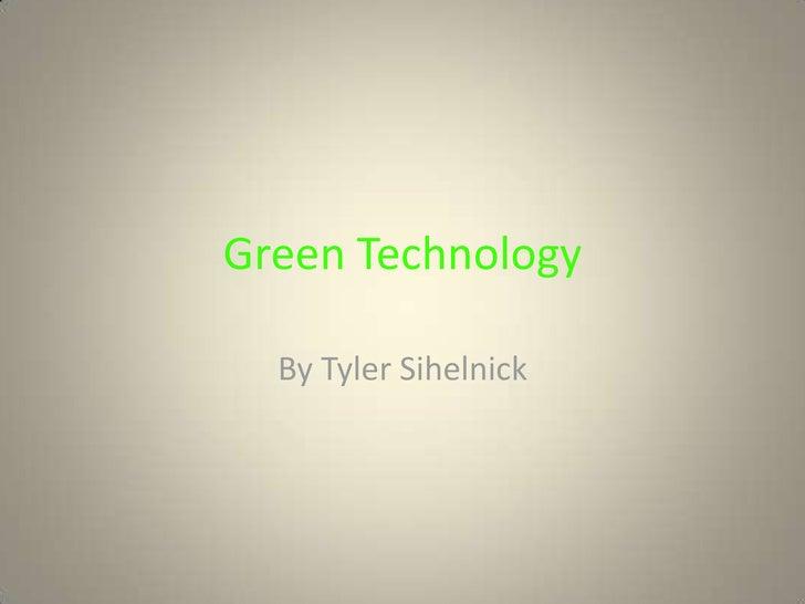 Green Technology Powerpoint