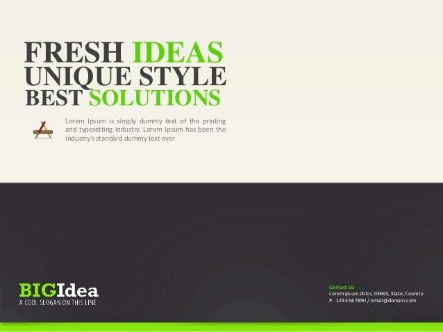 HOW TO SHOW IDEA OK