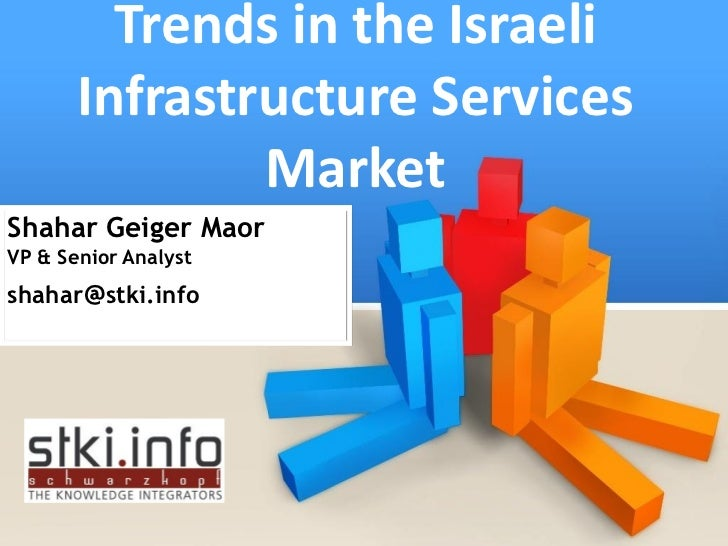 Trends in the Israeli        Infrastructure Services                Market Shahar Geiger Maor VP  Senior Analyst shahar@st...