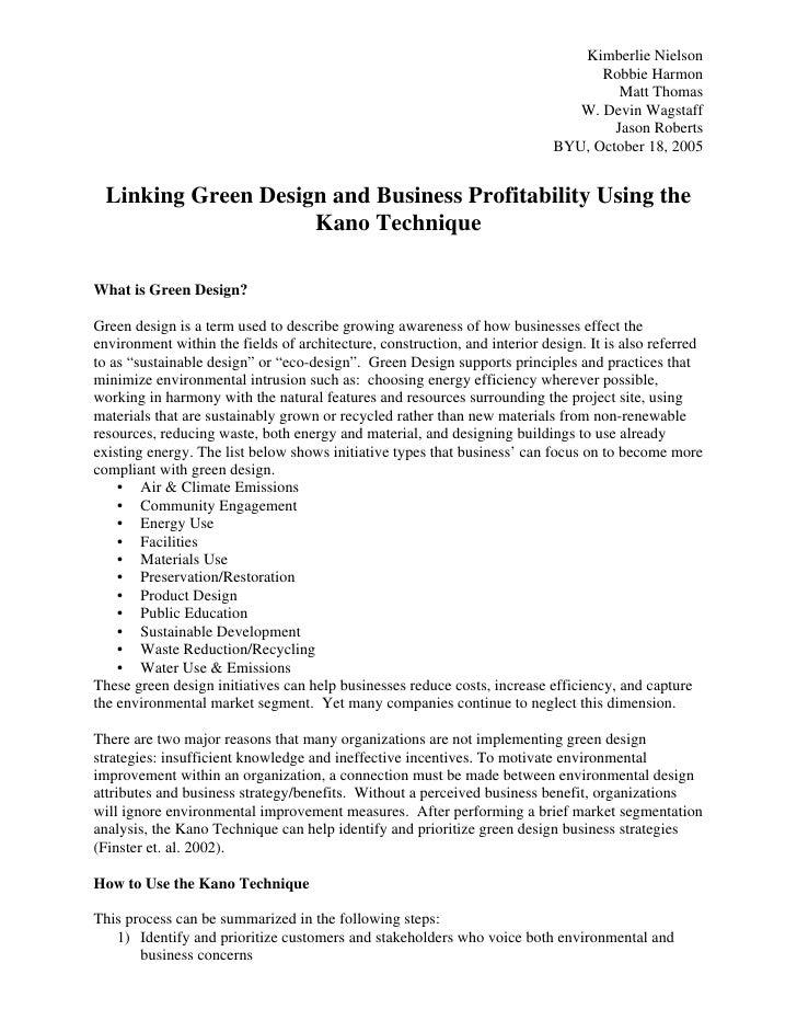 Green Design Tutorial