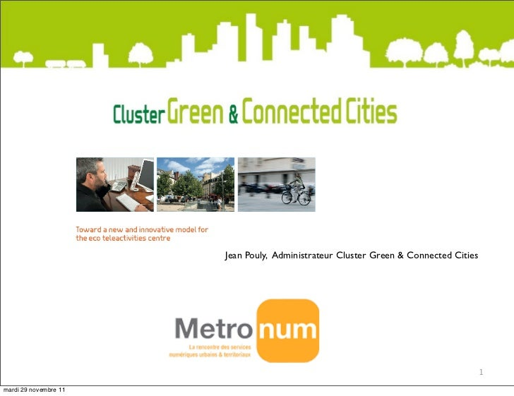 Jean Pouly, Administrateur Cluster Green & Connected Cities                                                               ...