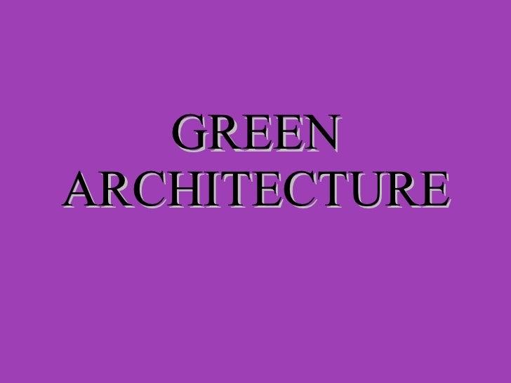 Green architecture 01