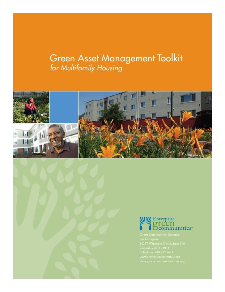 Green Asset Management Toolkit: for Multifamily Housing