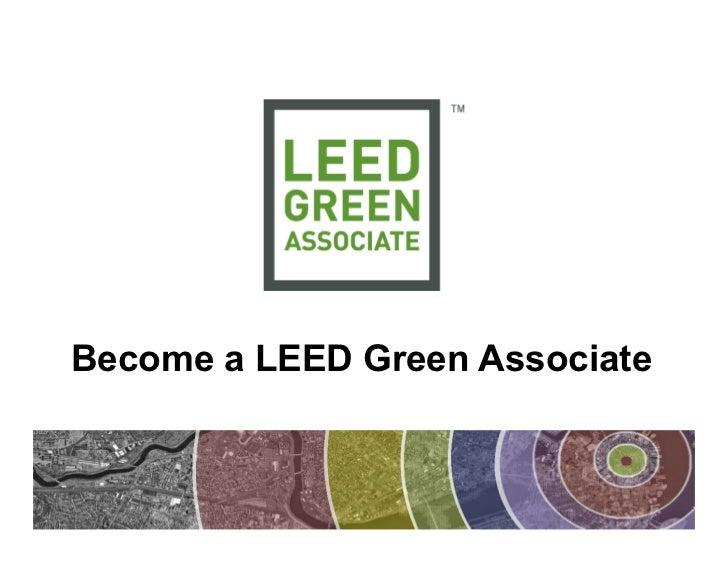 Webinar: Become a LEED Green Associate