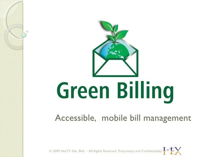 Green Billing