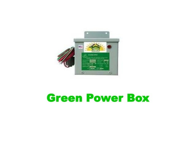 Green Energy Box Save Energy Today