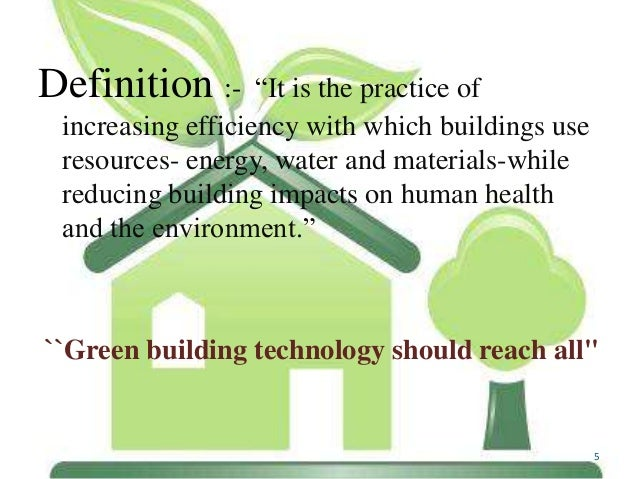 Green Technology Green Building Technology