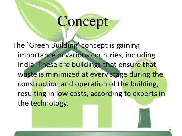 Green Building Concepts Concept The Green Building'