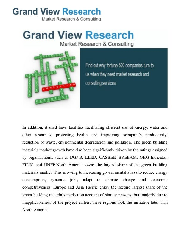 Green Building Materials Market Analysis Size Share