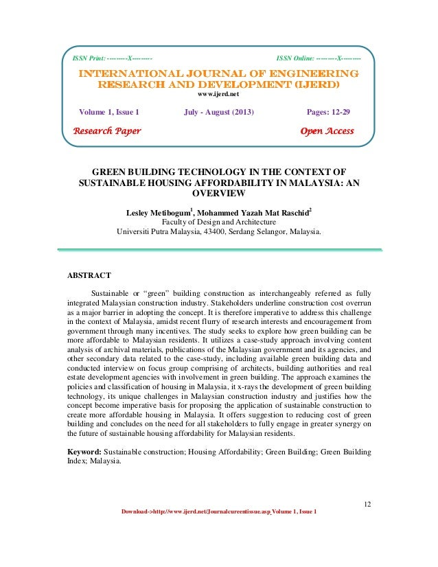 International Journal of Engineering Research and Development (IJERD) ISSN Print: ---------X--------- ISSN Online: -------...