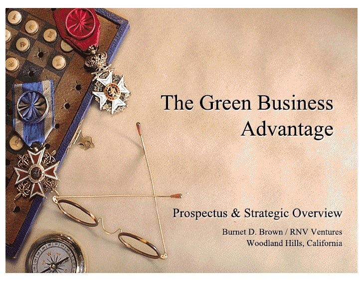 Green Business Advantage Prospectus   Burnet D Brown