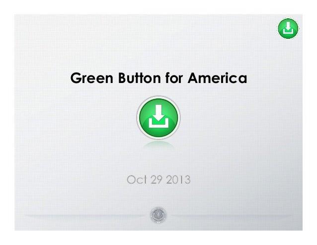 Green Button for America