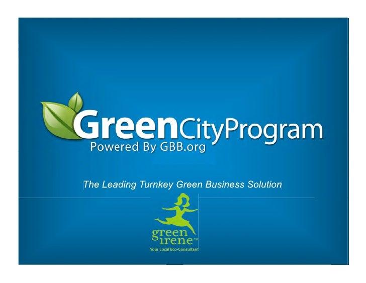 Green City Program Presentation| GBB and Green Irene