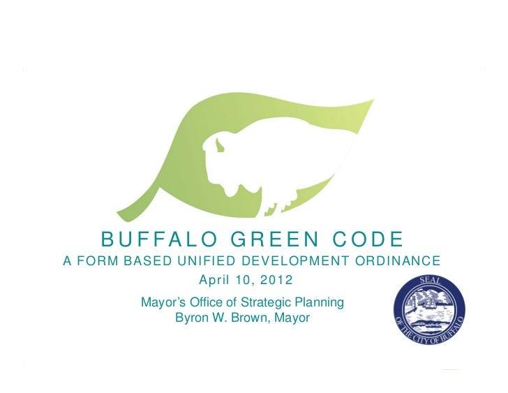 Buffalo Green Code April 10 Presentation