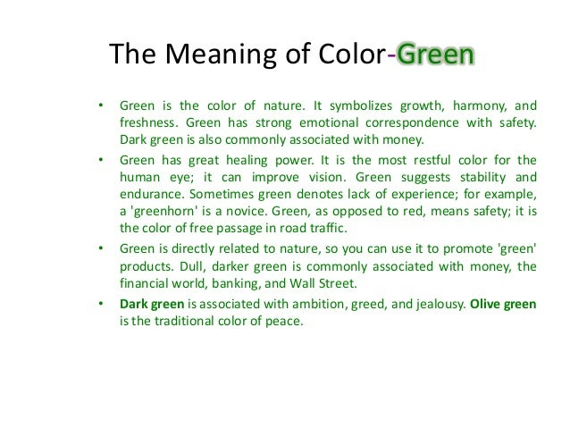 Green Colorintro