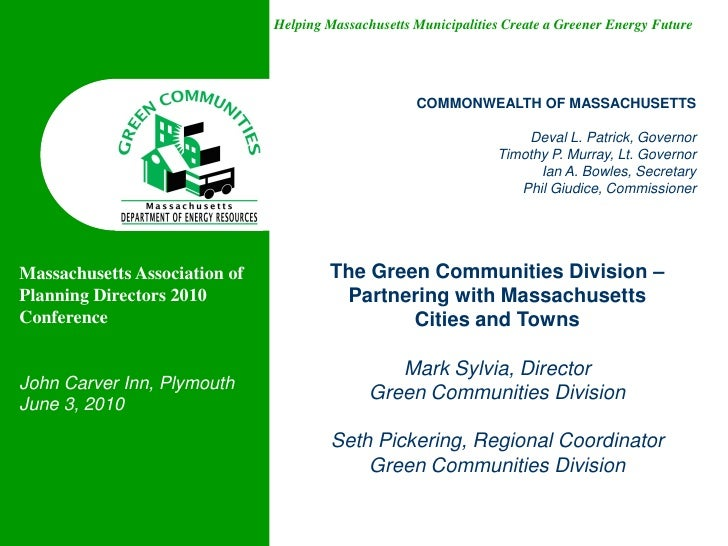 Helping Massachusetts Municipalities Create a Greener Energy Future                                                     CO...