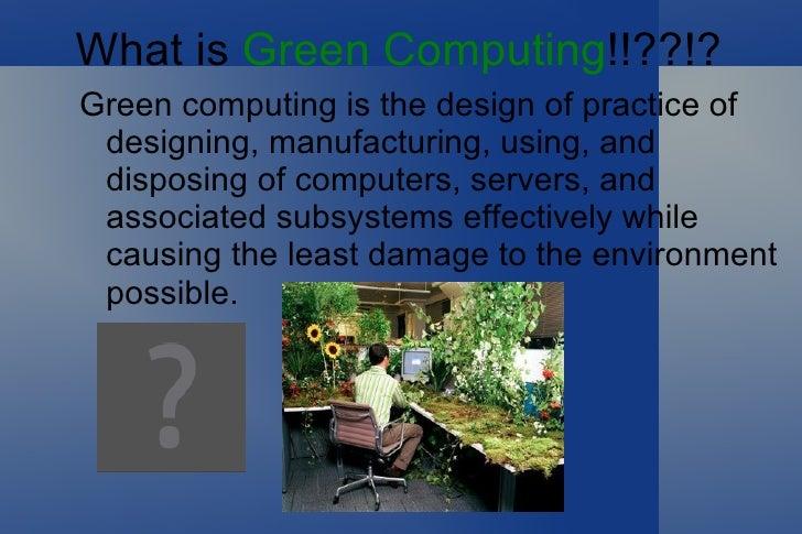 Greencomputingpresentation