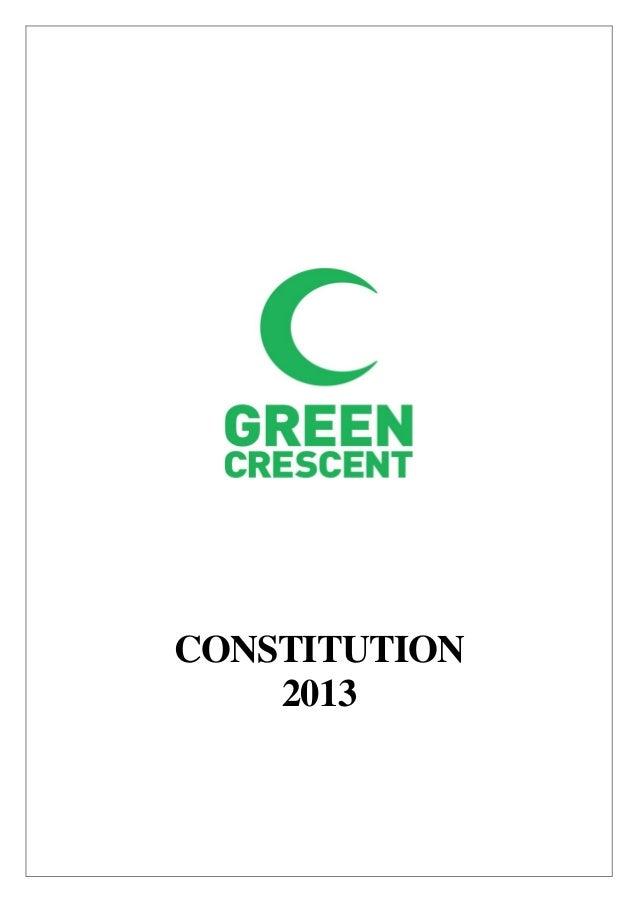 Green Crescent Constitution 2013
