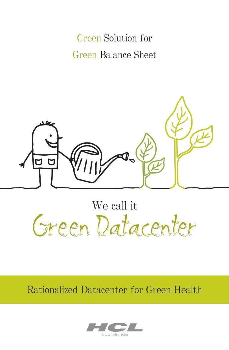 HCLT Whitepaper: Green Data Center