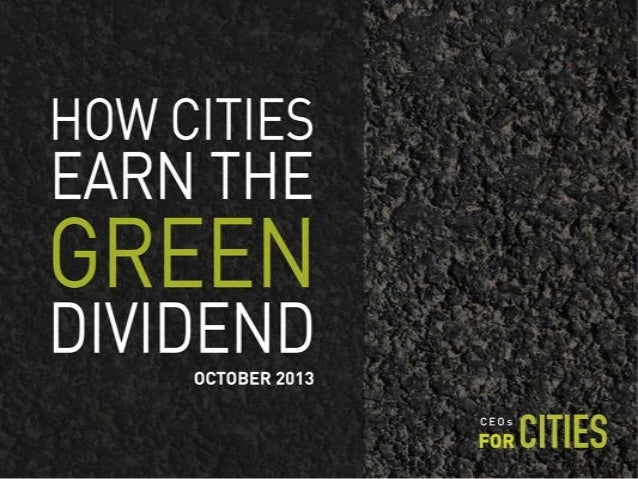 Green Dividend - Joe Cortright