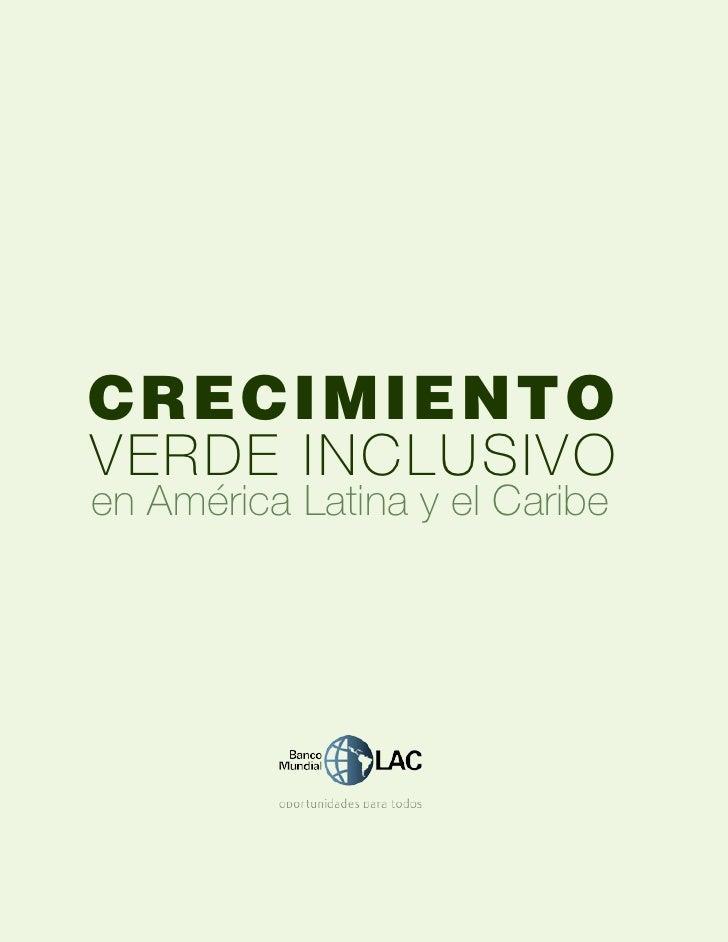 crecimientoverde Inclusivoen América Latina y el Caribe